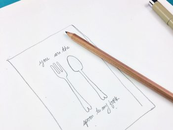 Behind The Scenes: Valentine's Day Spoon and Fork