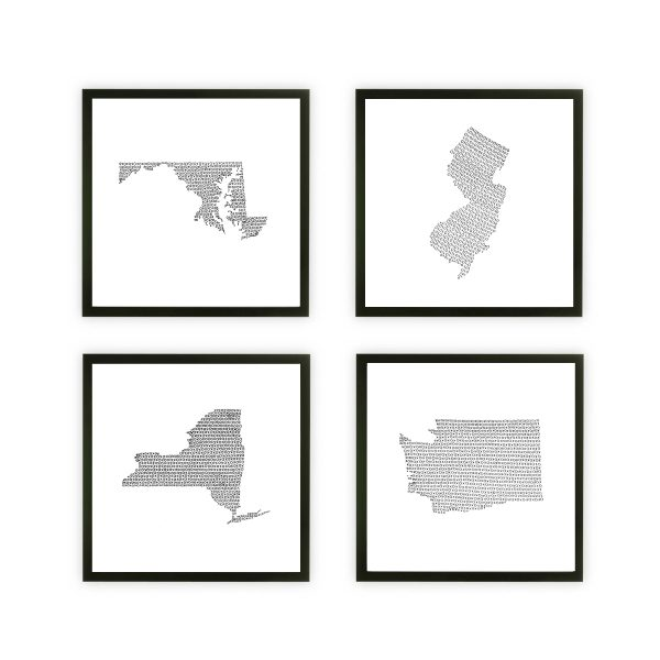 Framed four states