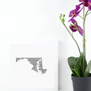 State of Maryland Art Print