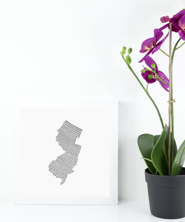 State of New Jersey Art Print