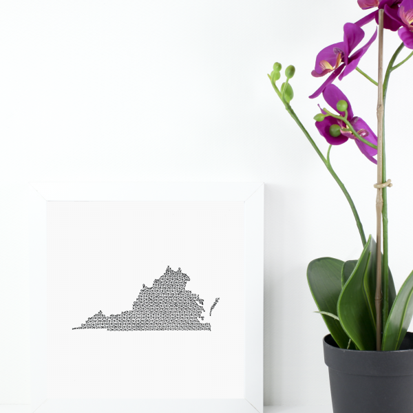 State of Virginia Art Print