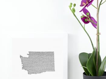 State of Washington Art Print