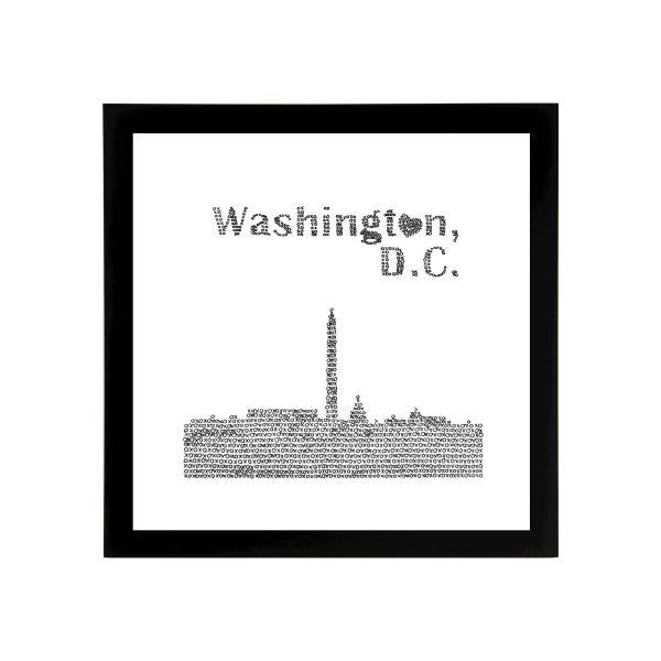Framed 8in x 8in Washington DC Skyline Art Print