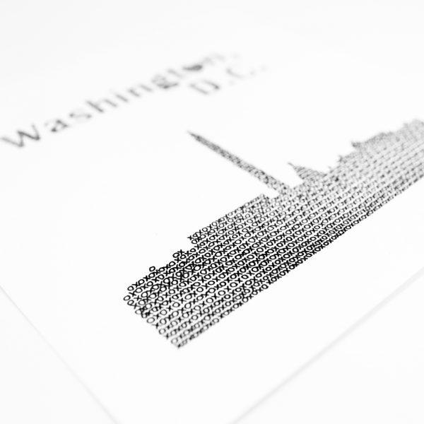Close Up Washington DC Skyline Art Print