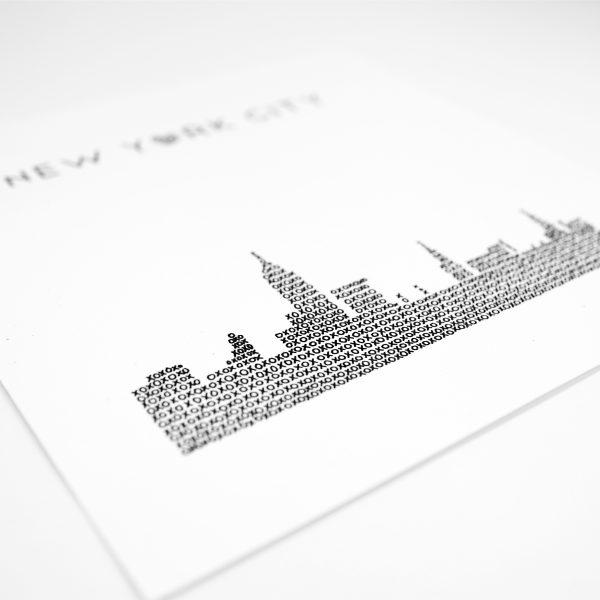 Close Up New York City Skyline Art Print