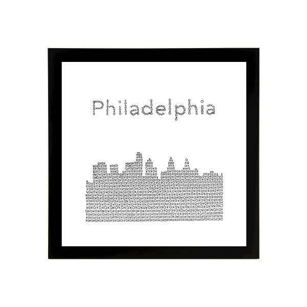 Framed 8in x 8in Philadelphia Skyline Art Print