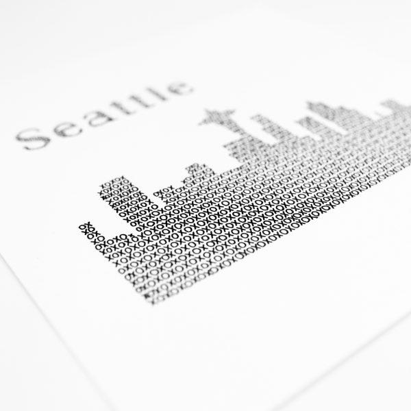 Close Up Seattle Skyline Art Print