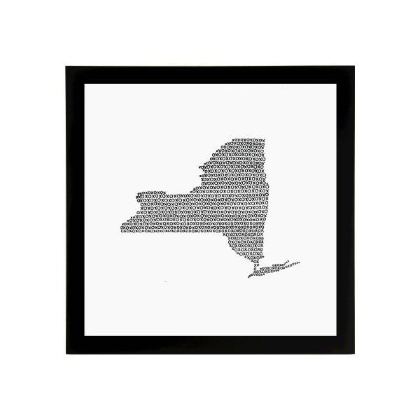 Framed State of New York Art Print