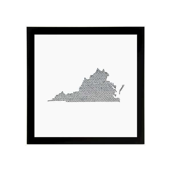 Framed State of Virginia Art Print