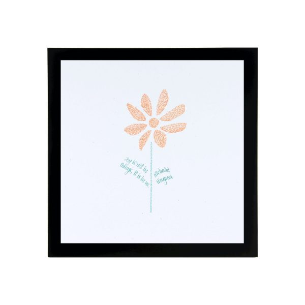 Framed Daisy Art Print