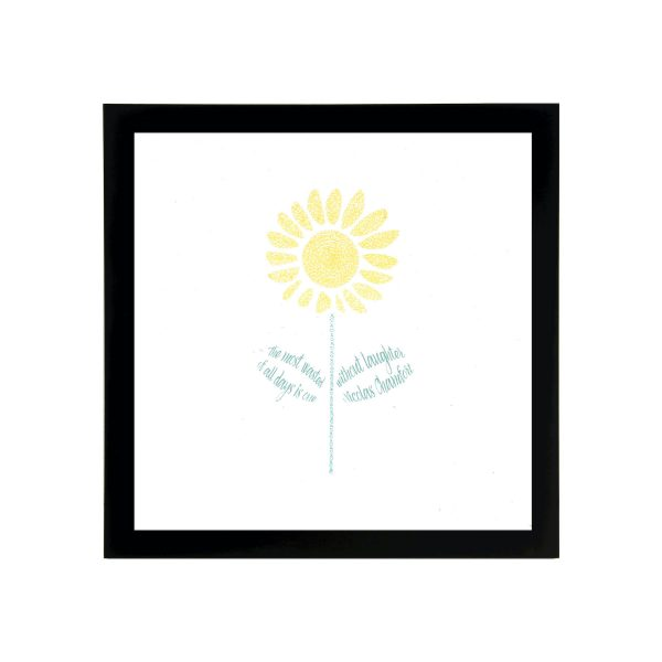 Framed Sunflower Art Print
