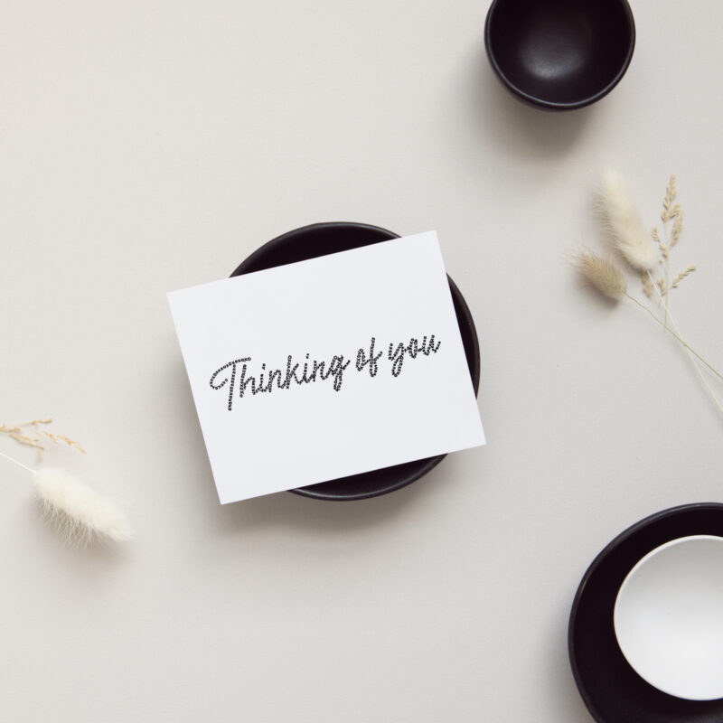 Shop Encouragement Cards - Thinking of You Card on display